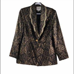 Nina Massini Gold Metallic Blazer